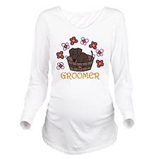 Groomer Long Sleeve Maternity T-Shirt
