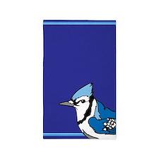 Blue Jay Bird 3'X5' Area Rug