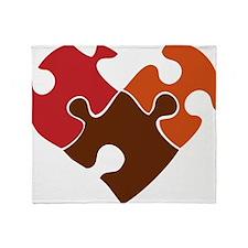 Puzzle Heart Throw Blanket
