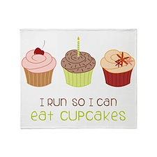 Eat Cupcakes Throw Blanket