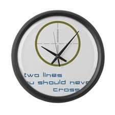 Two Lines Large Wall Clock