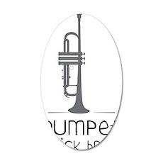 Trumpets Kick Brass 35x21 Oval Wall Decal