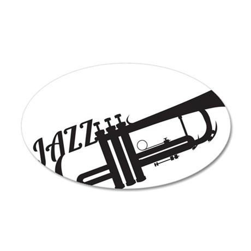 Jazz 35x21 Oval Wall Decal