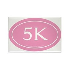 5K Running Achievement Pink Rectangle Magnet