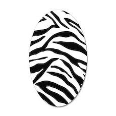 Zebra Stripes 35x21 Oval Wall Decal