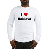 I love Baklava Long Sleeve T-Shirt