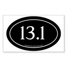 Half Marathon 13.1 Running Ach Decal