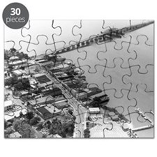 1960s Beaufort SC Downtown by Air Puzzle