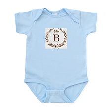Napoleon initial letter B monogram Infant Creeper