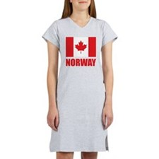 Canada Norway Women's Nightshirt