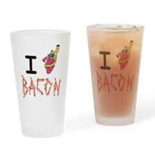 I Heart Attack Bacon Drinking Glass