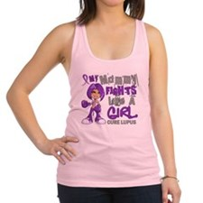 D Mommy Fights Like Girl Lupus  Racerback Tank Top