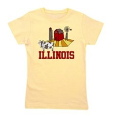 Illinois Girl's Tee
