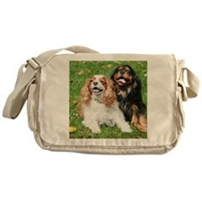Happy Cavalier King Charles Spaniels Messenger Bag