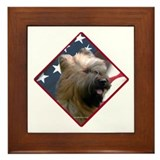 Briard Flag 2 Framed Tile