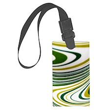 Green Swirl Luggage Tag