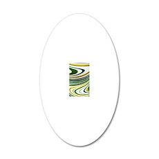 Green Swirl 20x12 Oval Wall Decal