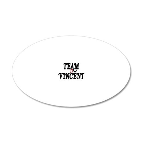 Team Vincent 20x12 Oval Wall Decal