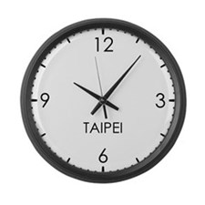 TAIPEI World Clock Large Wall Clock