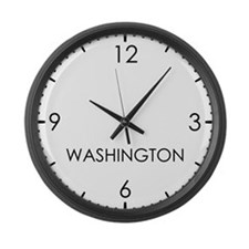 WASHINGTON World Clock Large Wall Clock