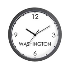 WASHINGTON World Clock Wall Clock
