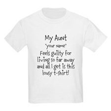 Aunt Guilty Personalized T-Shirt