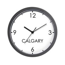 CALGARY World Clock Wall Clock