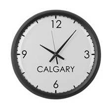CALGARY World Clock Large Wall Clock