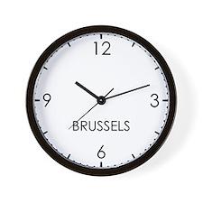 BRUSSELS World Clock Wall Clock