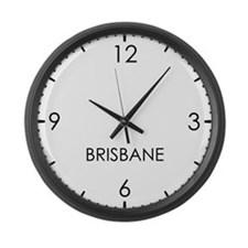 BRISBANE World Clock Large Wall Clock