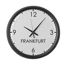 FRANKFURT World Clock Large Wall Clock