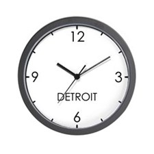 DETROIT World Clock Wall Clock