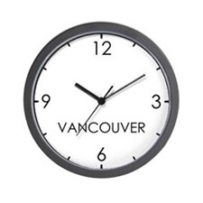VANCOUVER World Clock Wall Clock