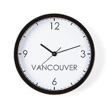 VANCOUVER World Clock Wall Clock