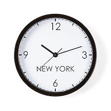 NEW YORK World Clock Wall Clock