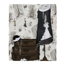 Gatsby in Paris Large Throw Blanket