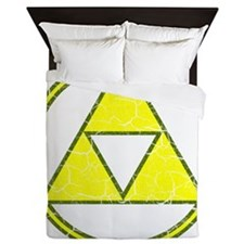 Aged Triangle Shirt white Queen Duvet