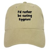 Rather be eating Eggplant Baseball Cap