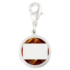 Bacon Silver Round Charm