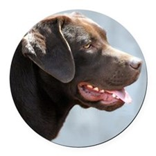 Labrador Retriever Dog Round Car Magnet