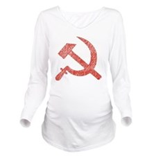 Hammer and Sickle Re Long Sleeve Maternity T-Shirt