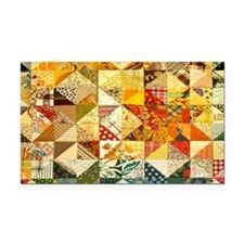 Fun Patchwork Quilt Rectangle Car Magnet