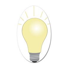 Light Bulb 35x21 Oval Wall Decal