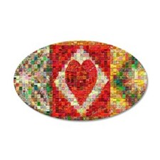 Heart Patchwork Lov... Wall Decal