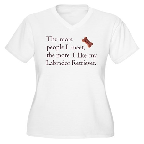 Like My Lab Women's Plus Size V-Neck T-Shirt