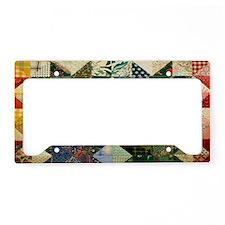 Fun Patchwork Quilt License Plate Holder