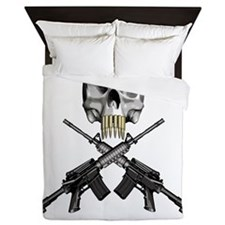 Skull Bullet teeth Queen Duvet