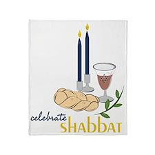 Celebrate Shabbat Throw Blanket
