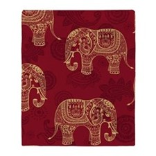 Beautiful Elephant Pattern Throw Blanket
