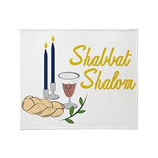 Shabbat Shalom Throw Blanket